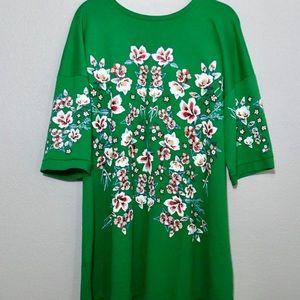 Zara, adorable oversized floral shirt dress